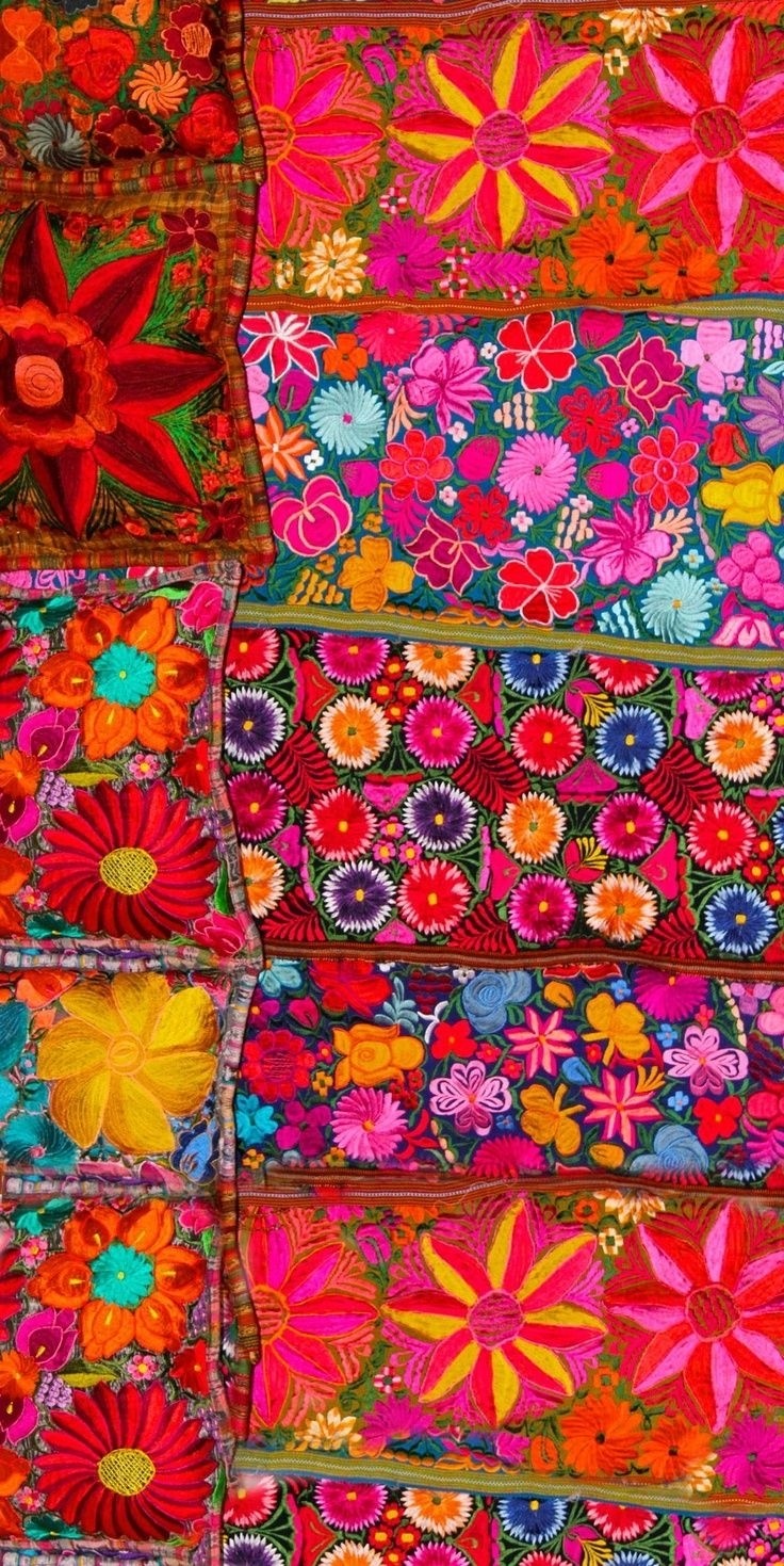 Brilliant Mexican Embroidered Textile (View 12 of 15)