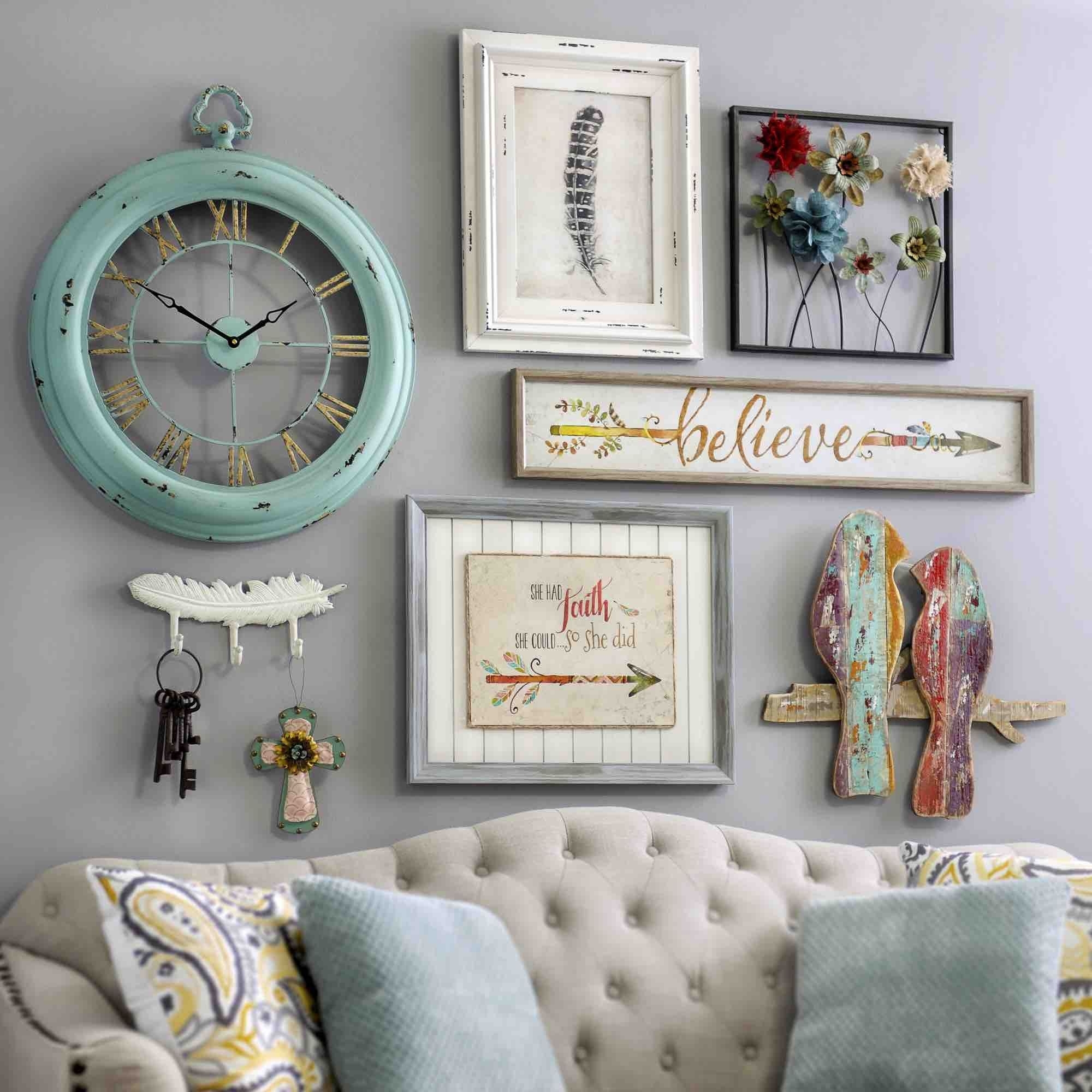 Bring A Shabby Chic Charm To Your Homeadding Pieces Of Wall With Best And Newest Vintage Wall Accents (View 4 of 15)