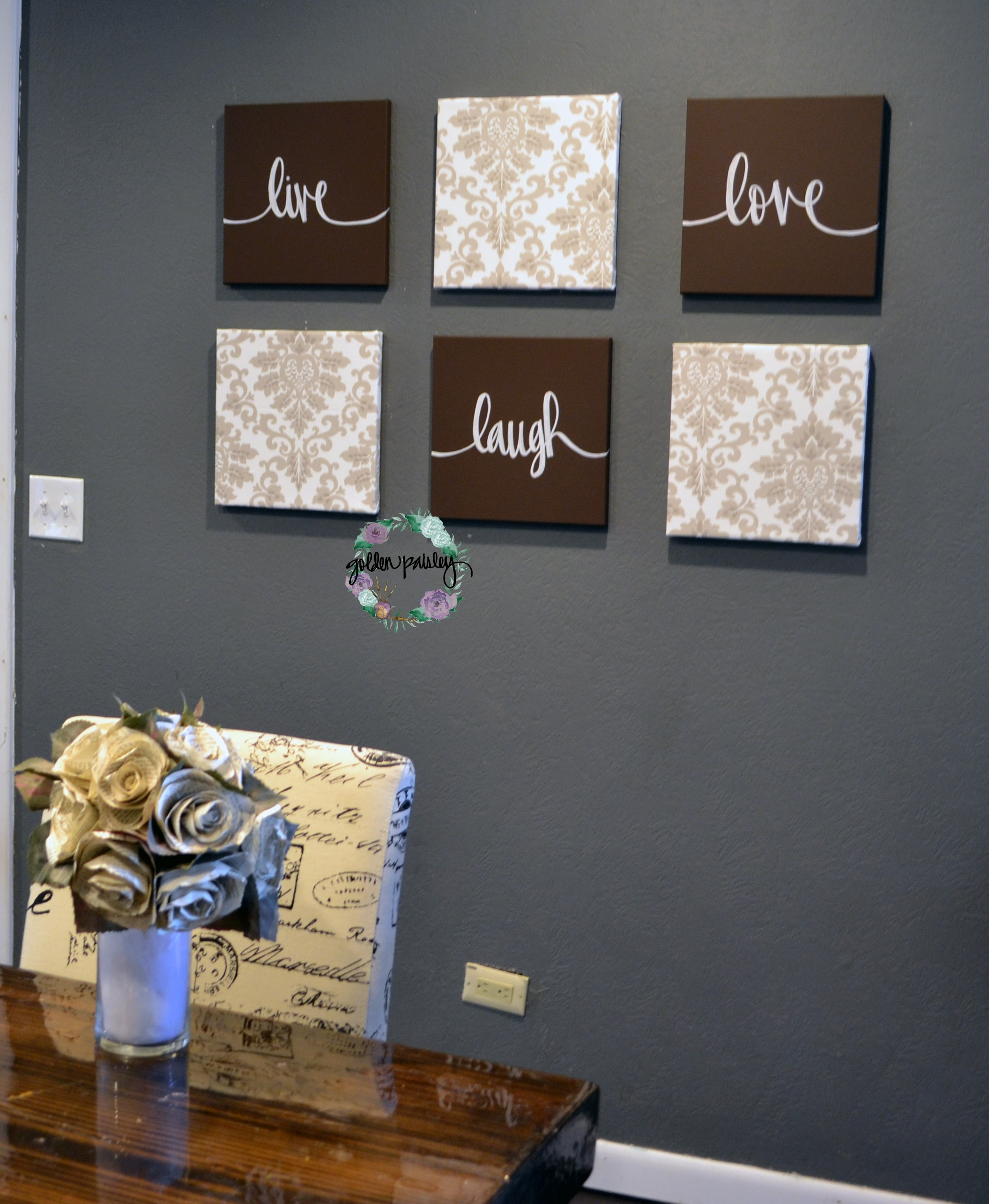 Featured Photo of Live Laugh Love Canvas Wall Art