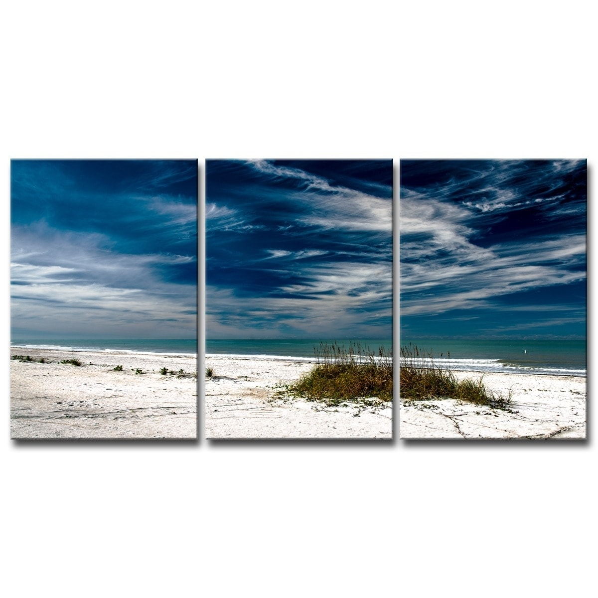 Bruce Bain 'silent Beach' 5 Piece Set Canvas Wall Art – Free Inside 2017 Beach Canvas Wall Art (View 15 of 15)
