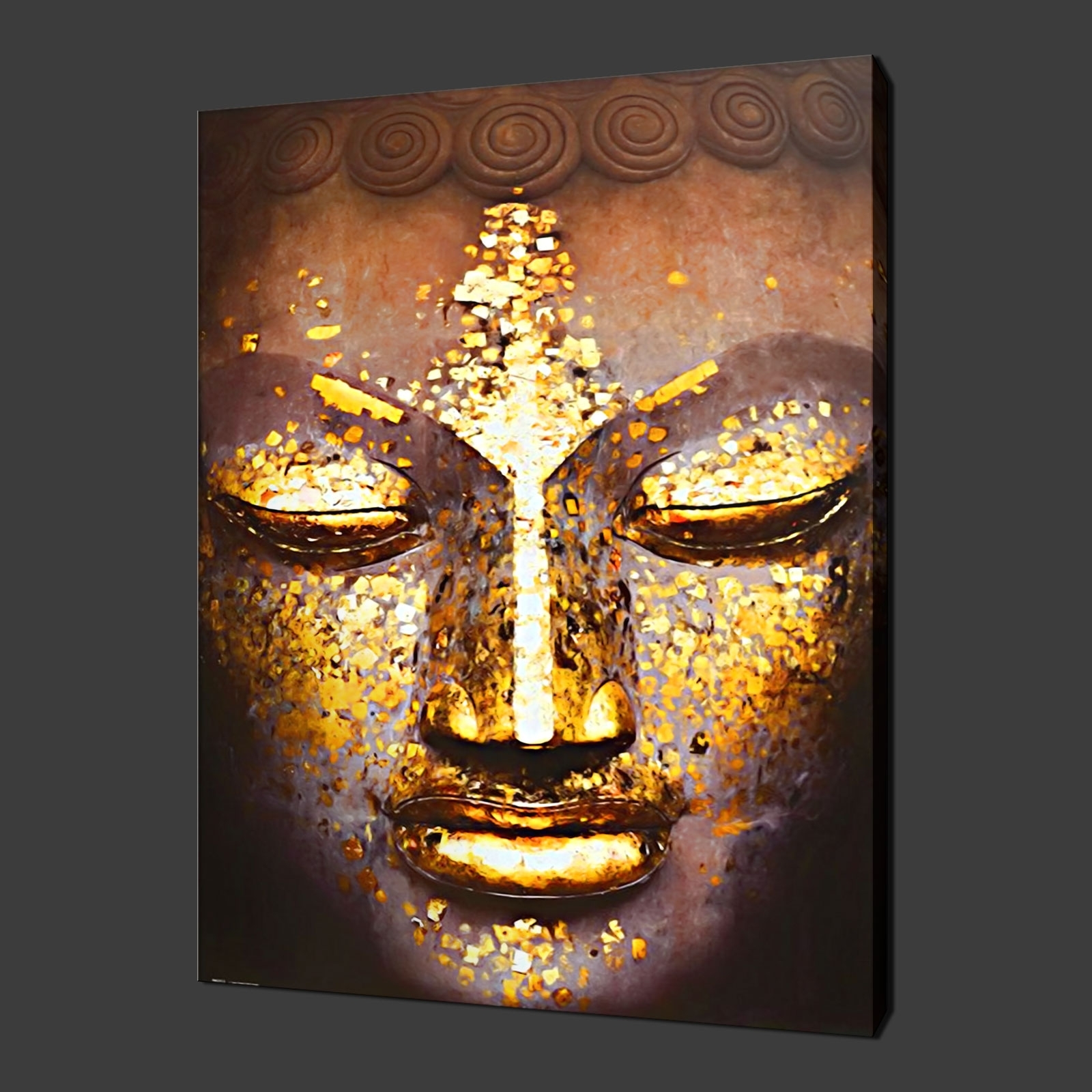 Buddha Ethnic Quality Canvas Print Wall Art Ready To Hang In Art Regarding Most Up To Date Ethnic Canvas Wall Art (View 4 of 15)