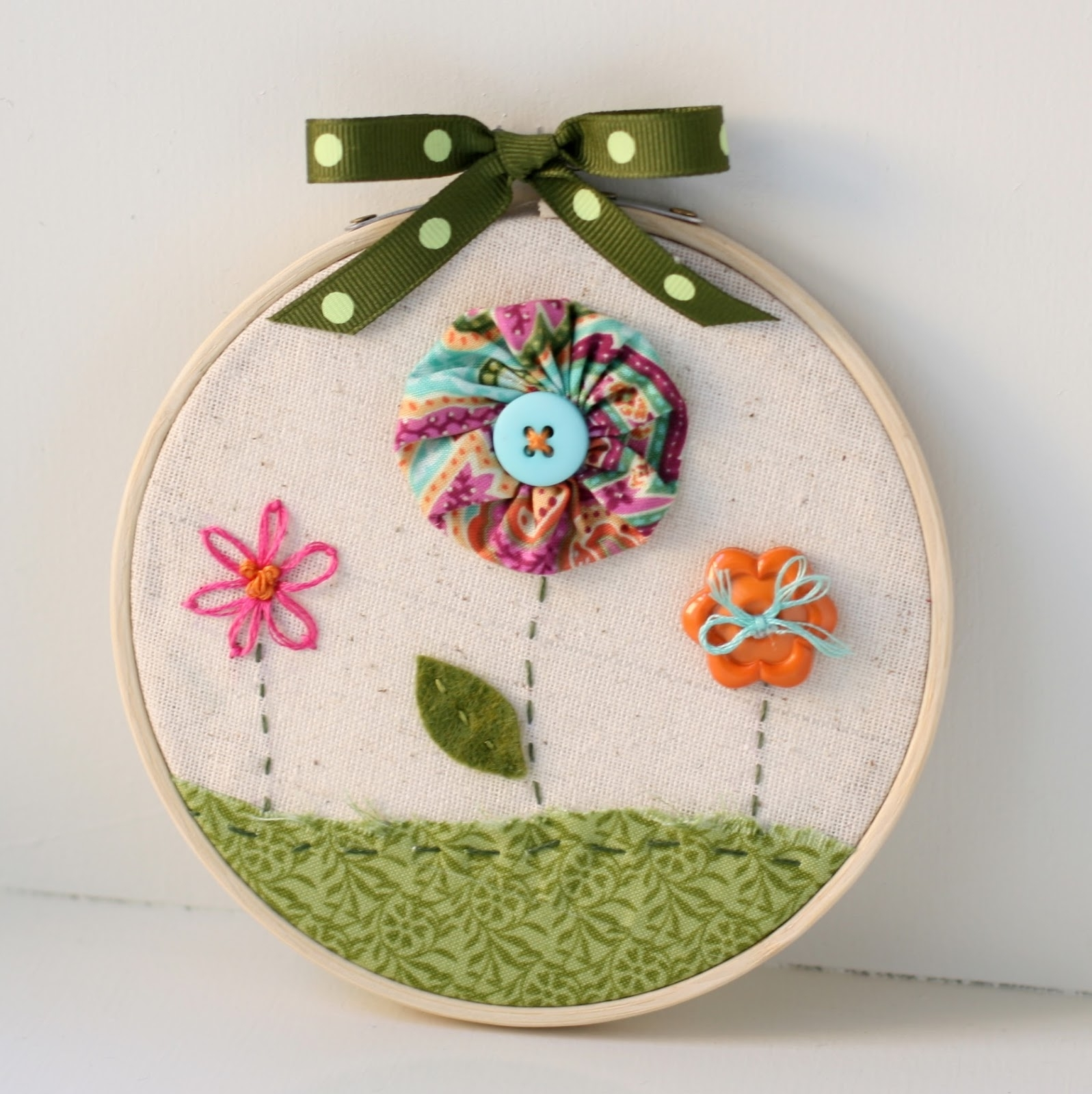 Bunches And Bits: Hoop Art Wall Hanging Inside Most Up To Date Embroidery Hoop Fabric Wall Art (View 4 of 15)