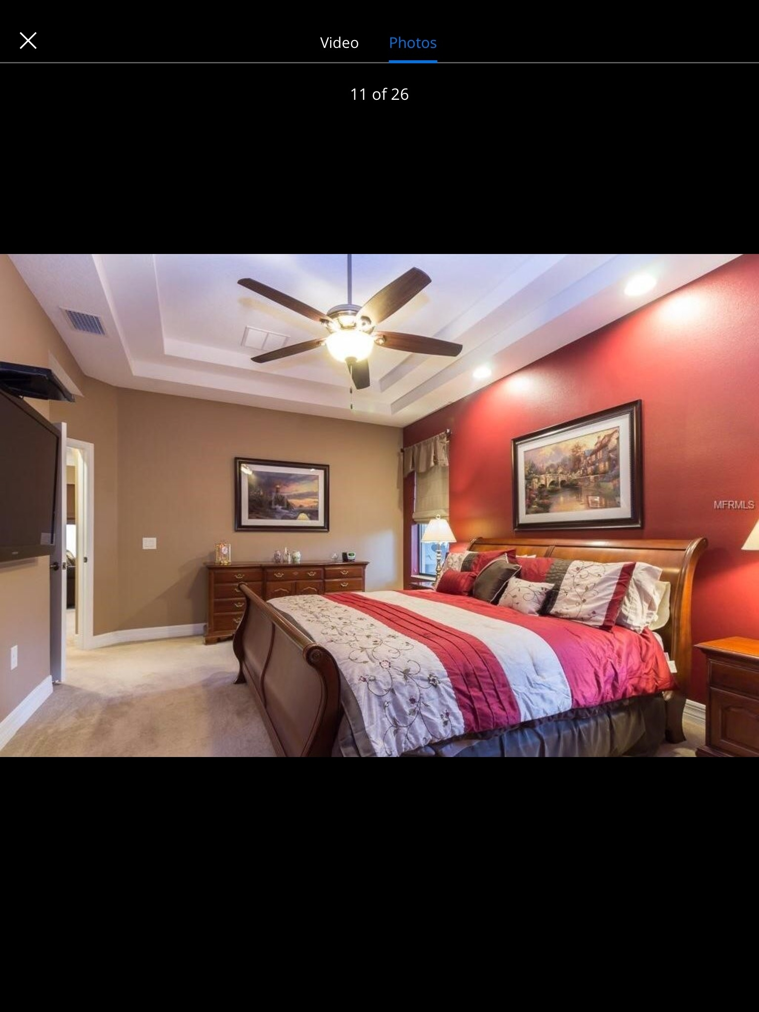 Burgundy Accent Wall With Tan Walls Master Bedroom | Murphy Master Inside Most Recently Released Wall Accents For Tan Room (View 15 of 15)