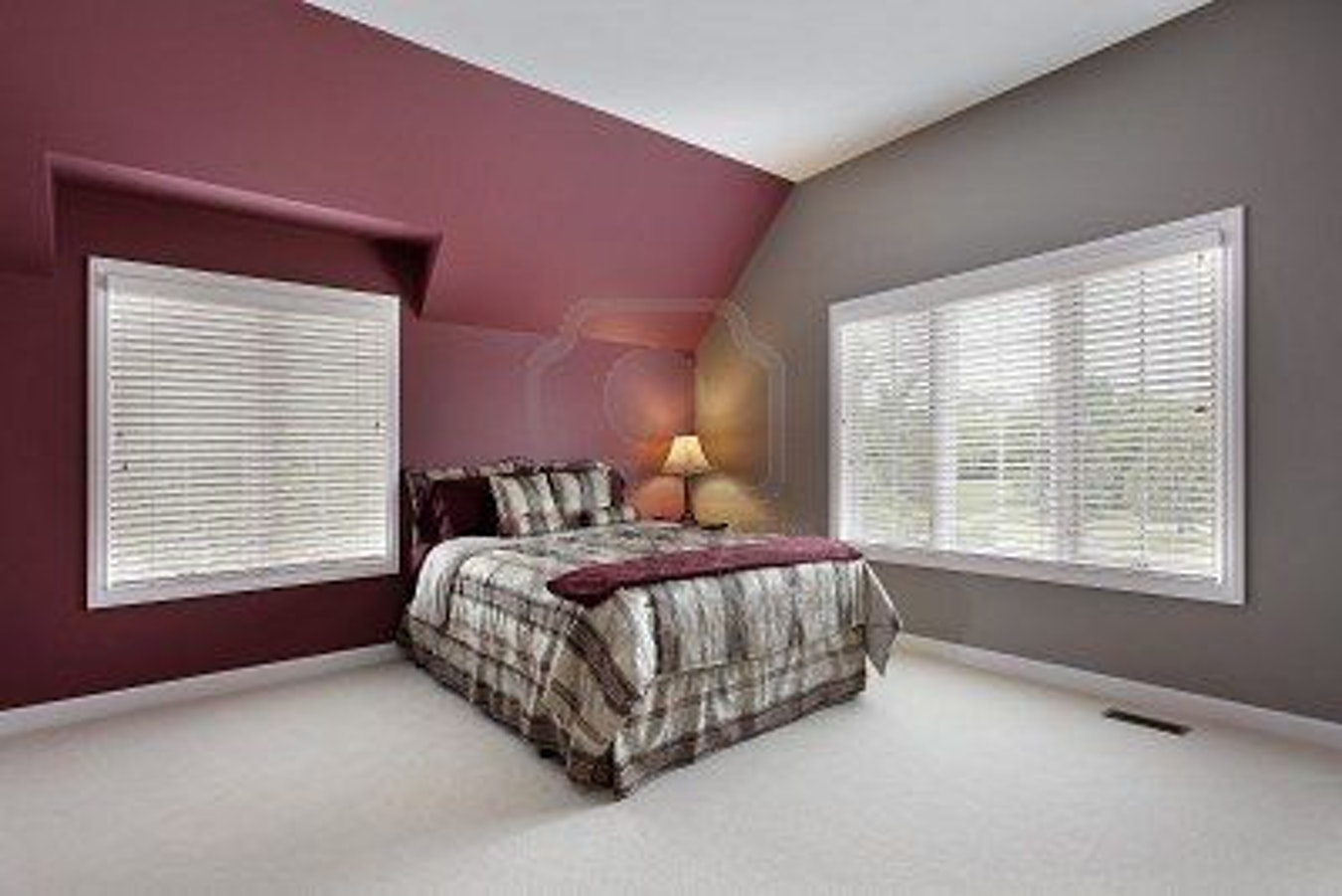 Burgundy And Grey Bedroom Maroon Walls Pink Entertaining Depiction Regarding Most Recent Maroon Wall Accents (View 3 of 15)