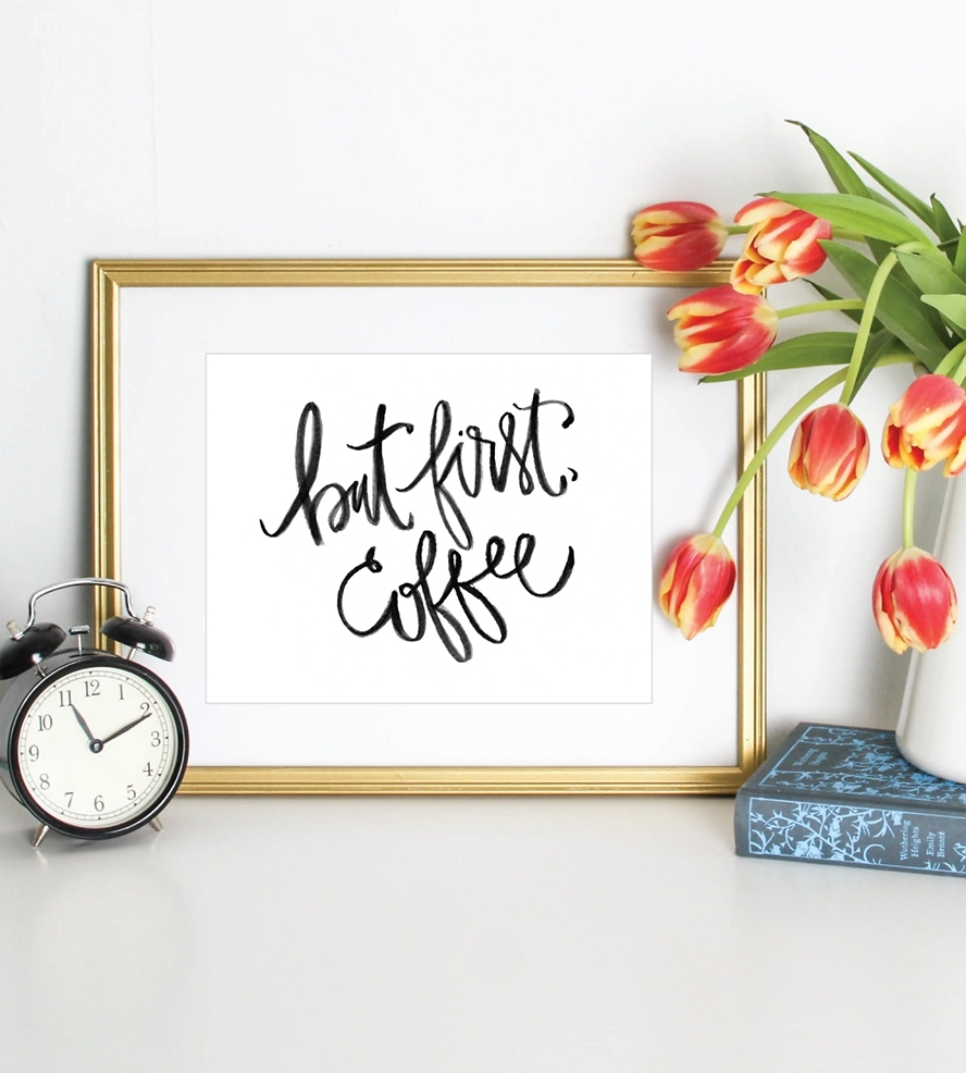 But First Coffee Art Print | Art Prints & Posters | Puddleduck In Most Recent Framed Coffee Art Prints (View 6 of 15)