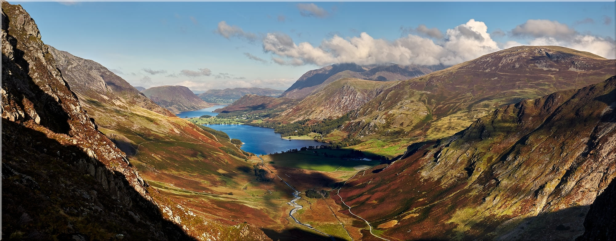 Buttermere Valley Green Crag – Lake District Canvas Prints Pertaining To Most Up To Date Lake District Canvas Wall Art (View 2 of 15)
