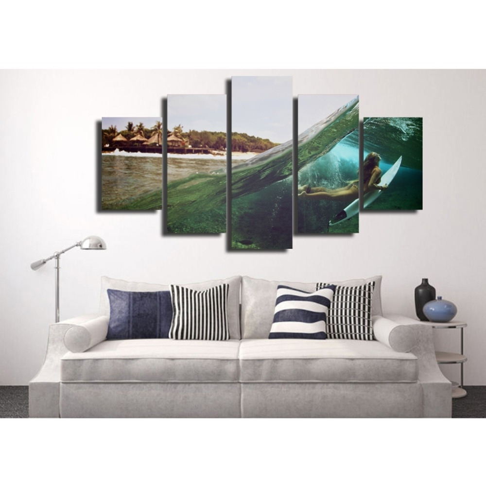 Buy Abstract Surf Art And Get Free Shipping On Aliexpress Intended For Latest Queensland Canvas Wall Art (View 7 of 15)