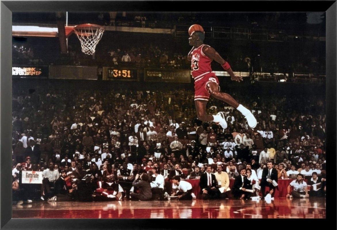 Buy Art For Less 'michael Jordan – Foul Line Dunk Sports – Nba For Newest Michael Jordan Canvas Wall Art (View 14 of 15)