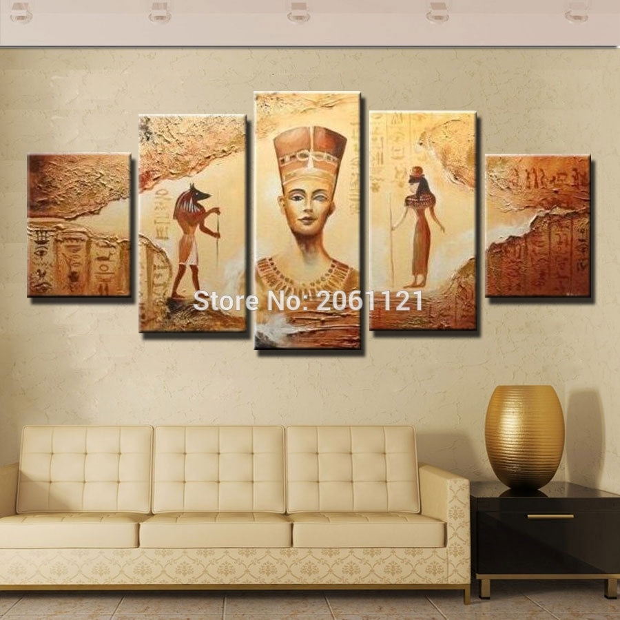 Buy Egyptian Art And Get Free Shipping On Aliexpress Inside 2018 Egyptian Canvas Wall Art (View 14 of 15)