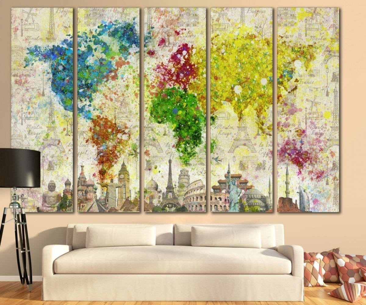 15 Ideas of Maps Canvas Wall Art
