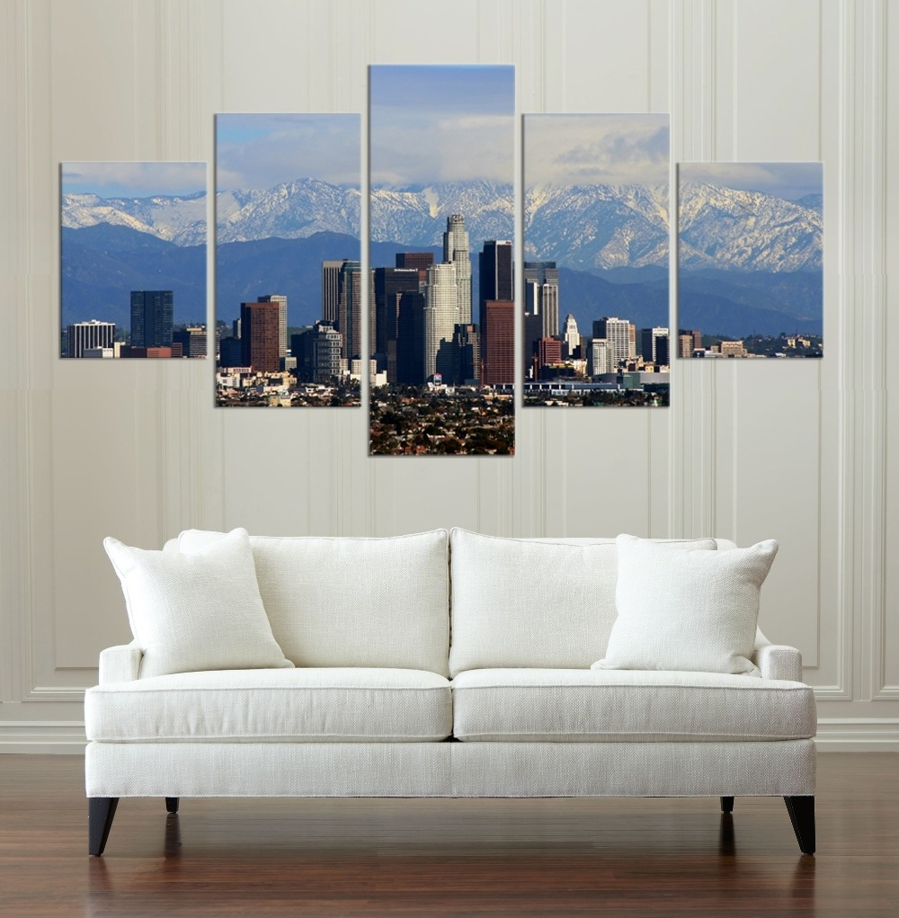 Buy Los Angeles Paintings And Get Free Shipping On Aliexpress Throughout Most Current Los Angeles Canvas Wall Art (View 6 of 15)