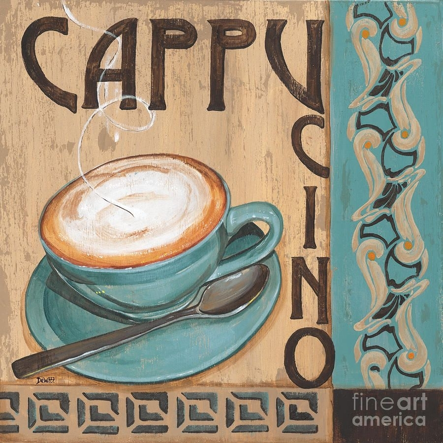 Cafe Nouveau 1 Painting – Cafe Nouveau 1 Fine Art Print Pertaining To Most Recently Released Framed Coffee Art Prints (View 3 of 15)