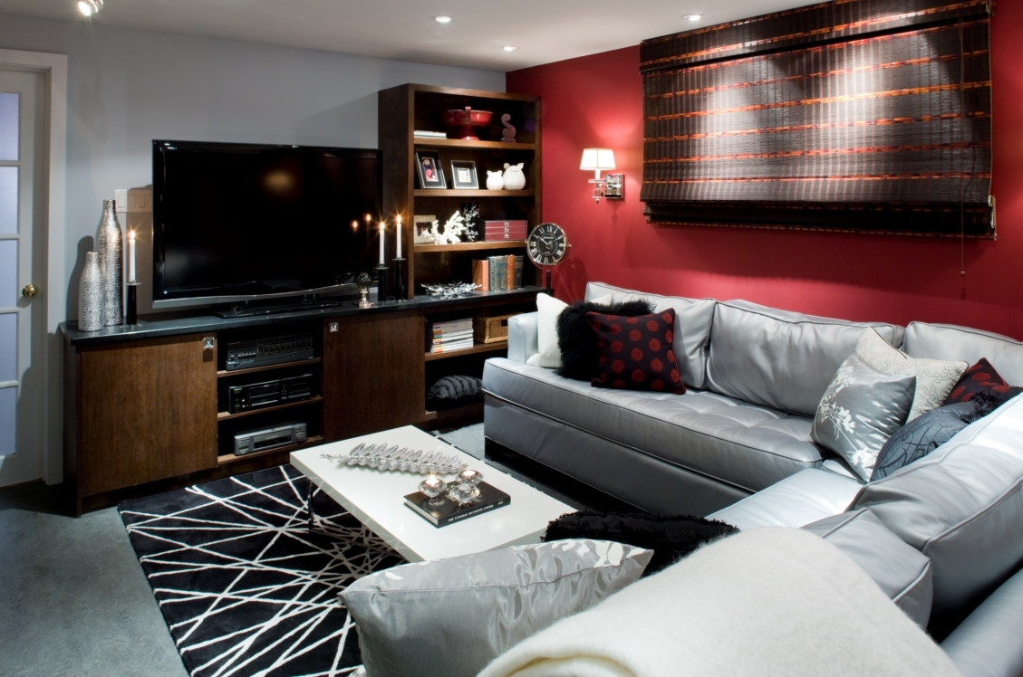 Candice Olson Designed Living Room, With Benjamin Moore U2013 Night Regarding  Most Recently Released Wall