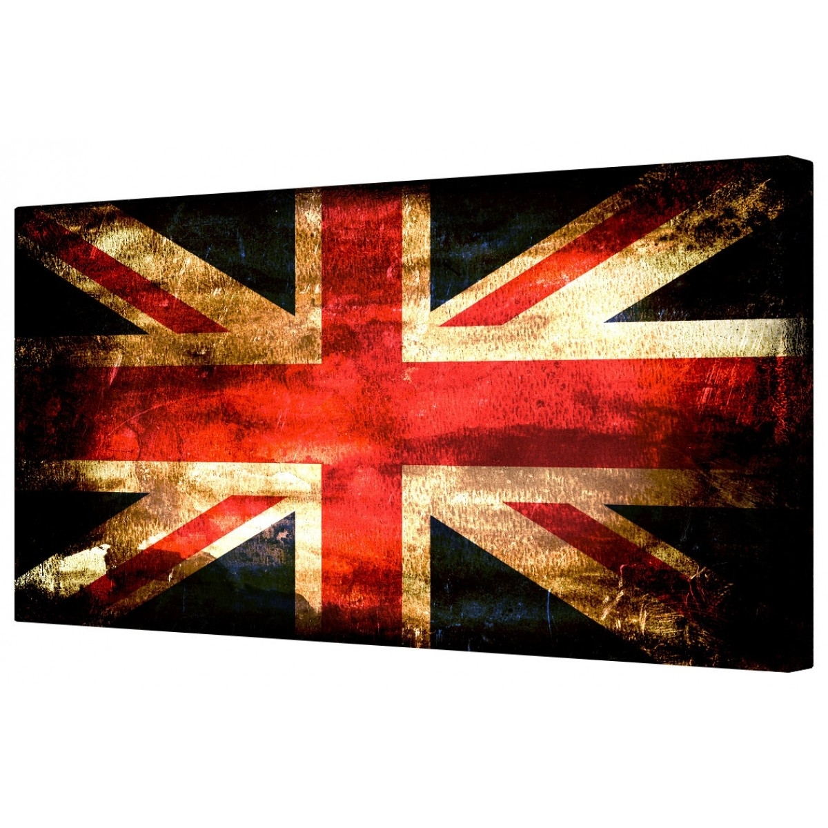 Canvart | Retro Union Jack Flag Framed Canvas Wall Art Picture Regarding Most Up To Date Union Jack Canvas Wall Art (View 3 of 15)