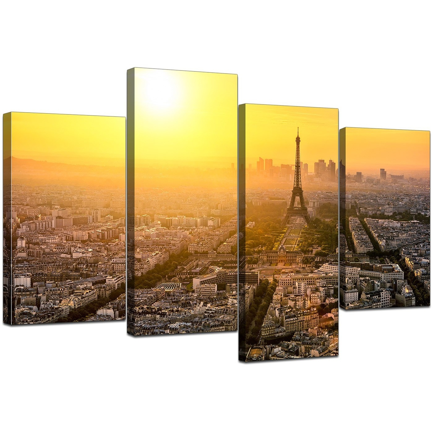 Canvas Art Of Eiffel Tower Paris For Your Hallway – Set Of 4 In Most Up To Date Canvas Wall Art Of Paris (View 6 of 15)