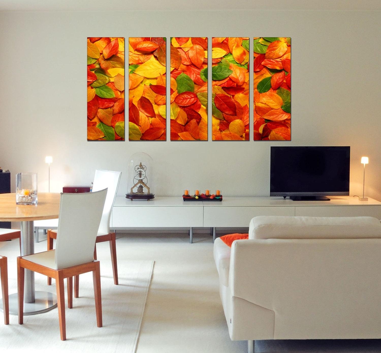 Canvas Art Prints – Autumn Leaves Canvas Art – Photo Canvas Prints With Newest Leaves Canvas Wall Art (View 8 of 15)