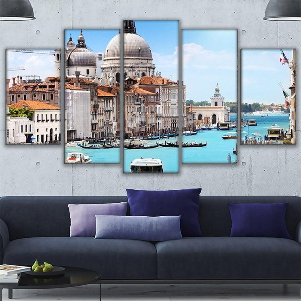 Canvas Hd Printed Modern Pictures Frame Wall Art Home Decor 5 Intended For Most Current Canvas Wall Art Of Rome (Gallery 14 of 15)