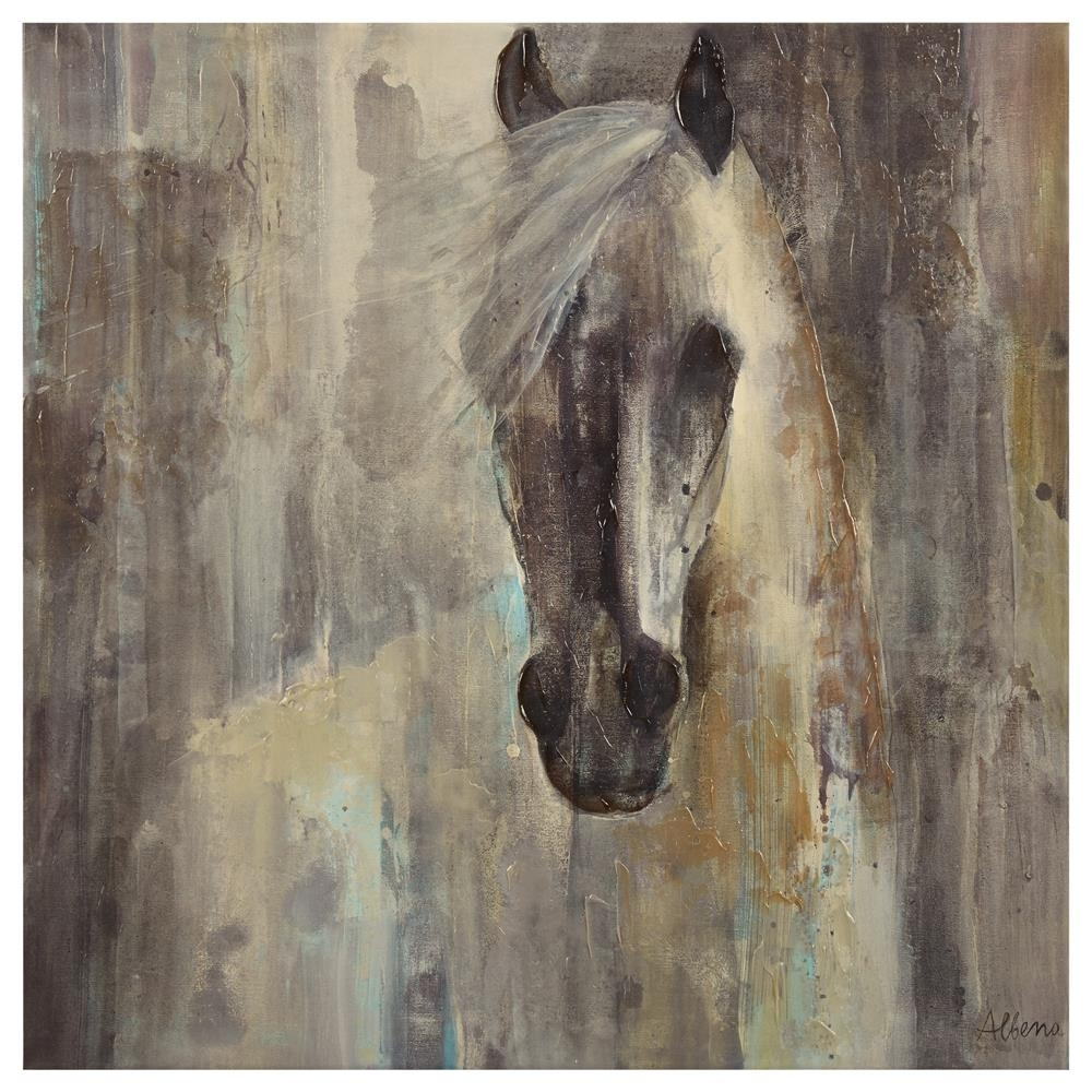Canvas – Horse Silhouette/canvas + Framed Art/wall Decor|Bouclair Inside Most Popular Horses Canvas Wall Art (View 5 of 15)