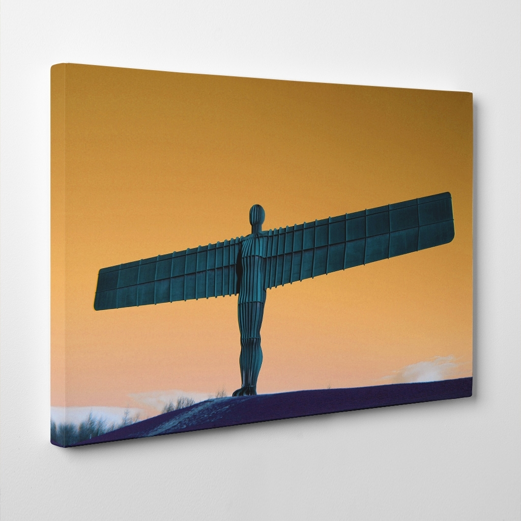 Canvas Print Various Size Wall Art Angel Of The North Newcastle 3 With Recent Newcastle Canvas Wall Art (View 2 of 15)