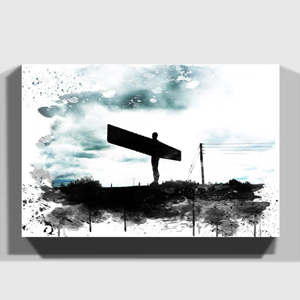 Canvas Print Various Size Wall Art Angel Of The North Newcastle 4 For Latest Newcastle Canvas Wall Art (View 3 of 15)