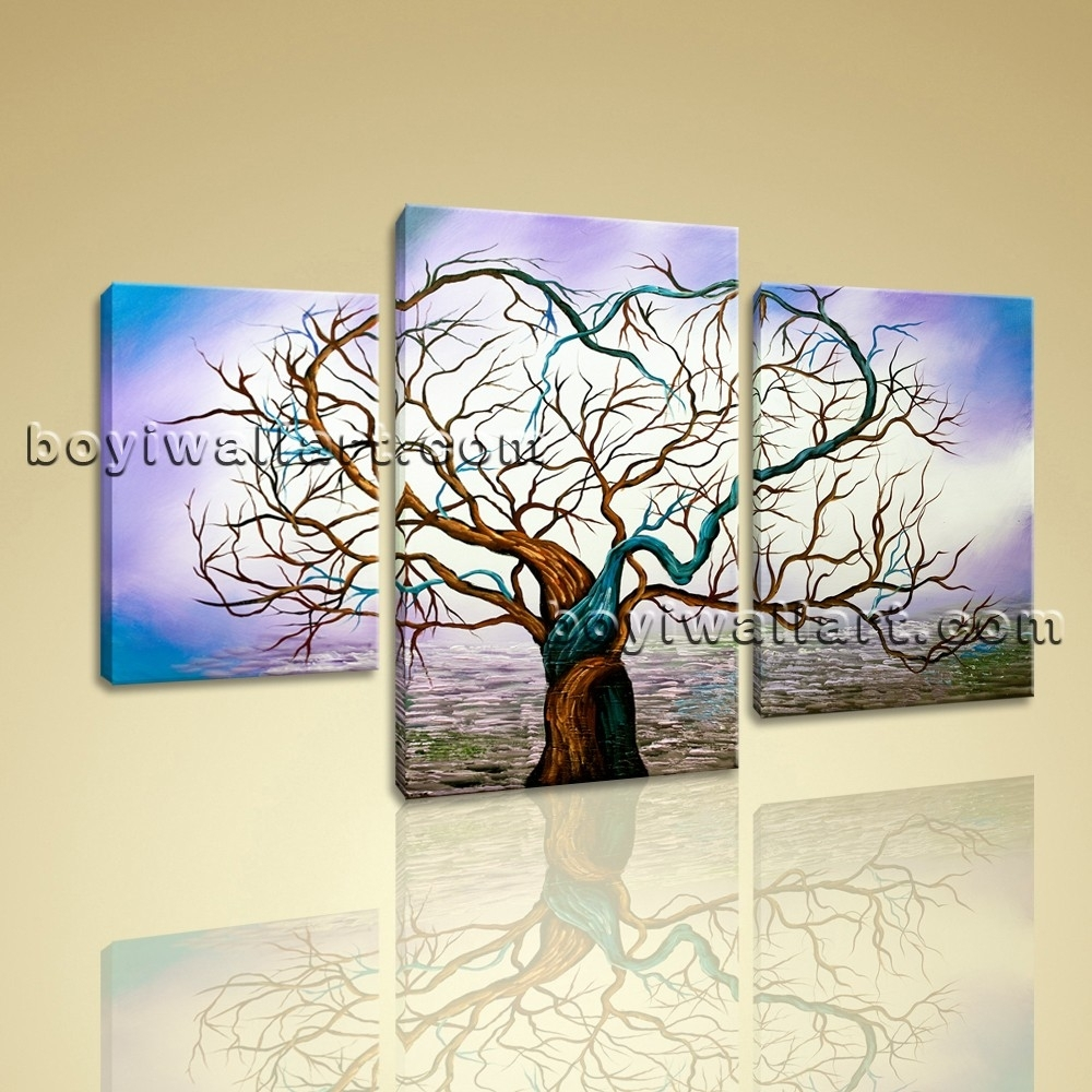 Canvas Prints Modern Abstract Wall Art Heart Love Glows Tree Inside Most Current Hearts Canvas Wall Art (View 7 of 15)