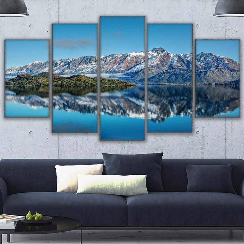 Canvas Prints Poster Wall Art Frame Home Decor 5 Piece Queenstown Pertaining To Most Current New Zealand Canvas Wall Art (View 5 of 15)