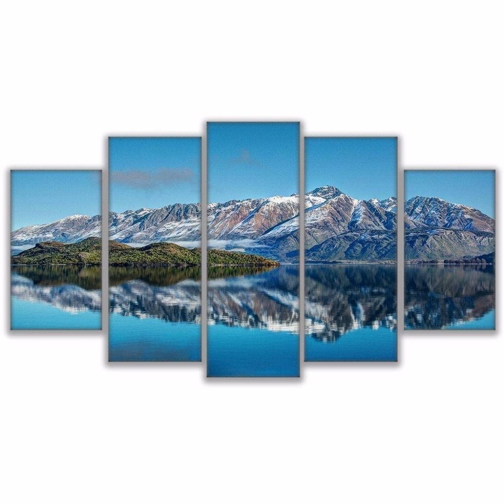 Canvas Prints Poster Wall Art Frame Home Decor 5 Piece Queenstown With Regard To Most Popular New Zealand Canvas Wall Art (View 13 of 15)
