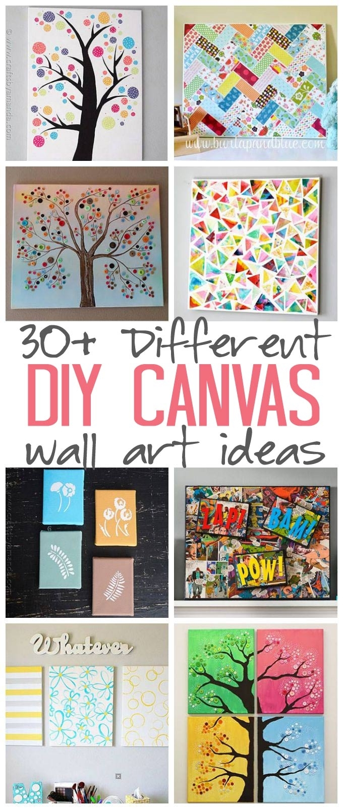 Canvas Wall Art Ideas: 30+ Canvas Tutorials Intended For Most Current Diy Canvas Wall Art (View 1 of 15)