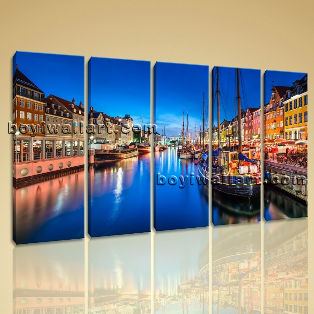 Canvas Wall Art Print Painting Italy Venice Night Hd Picture Home Throughout 2018 Canvas Wall Art Of Italy (Gallery 14 of 15)