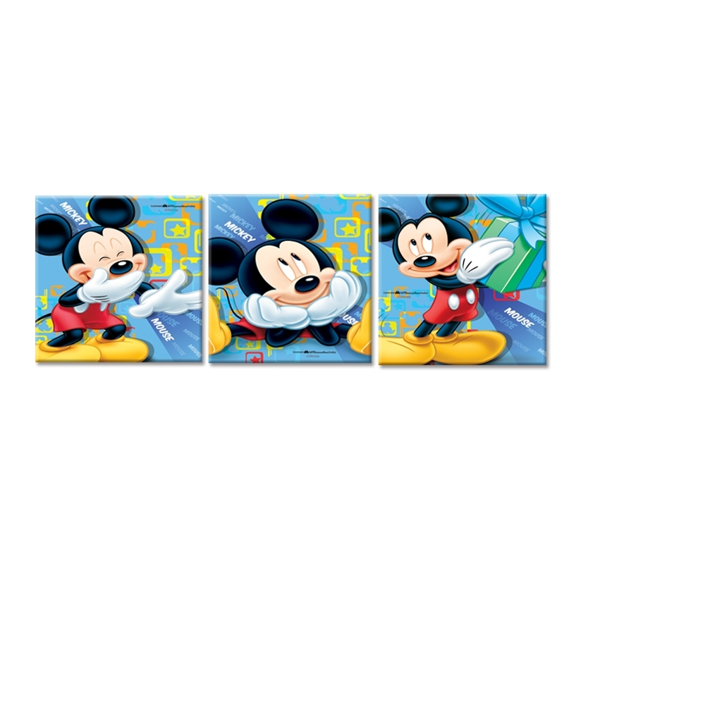Canvas Wall Art,lovely Mickey Mouse Classical Cartoon Image Print For Most Popular Mickey Mouse Canvas Wall Art (Gallery 2 of 15)