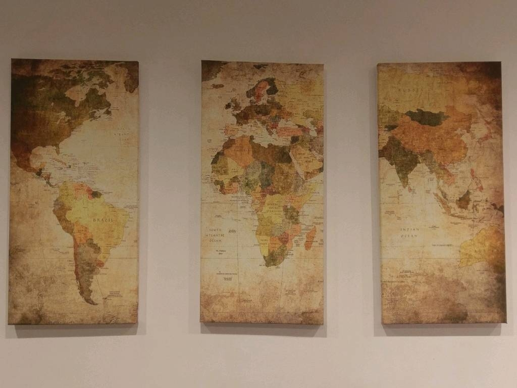 Canvas World Map Wall Art | In Trafford, Manchester | Gumtree Regarding Recent Gumtree Canvas Wall Art (View 9 of 15)