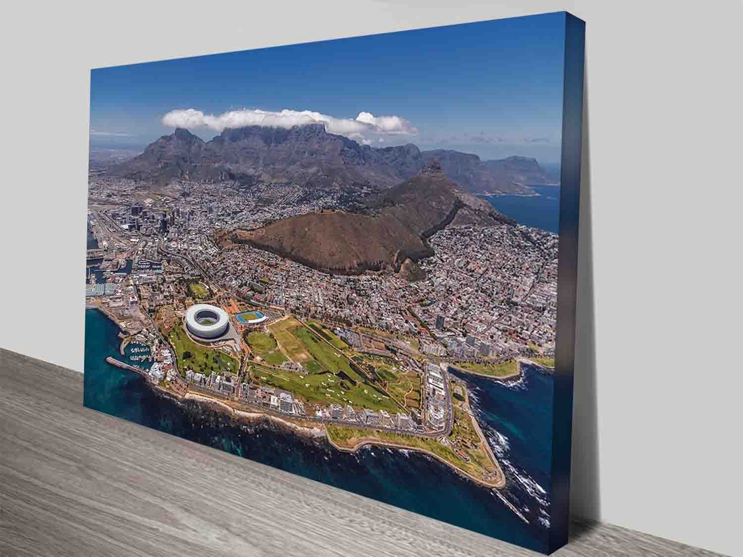 Cape Town South Africa City Decor Photo Print Wall Art On Canvas Regarding Recent Cape Town Canvas Wall Art (View 3 of 15)