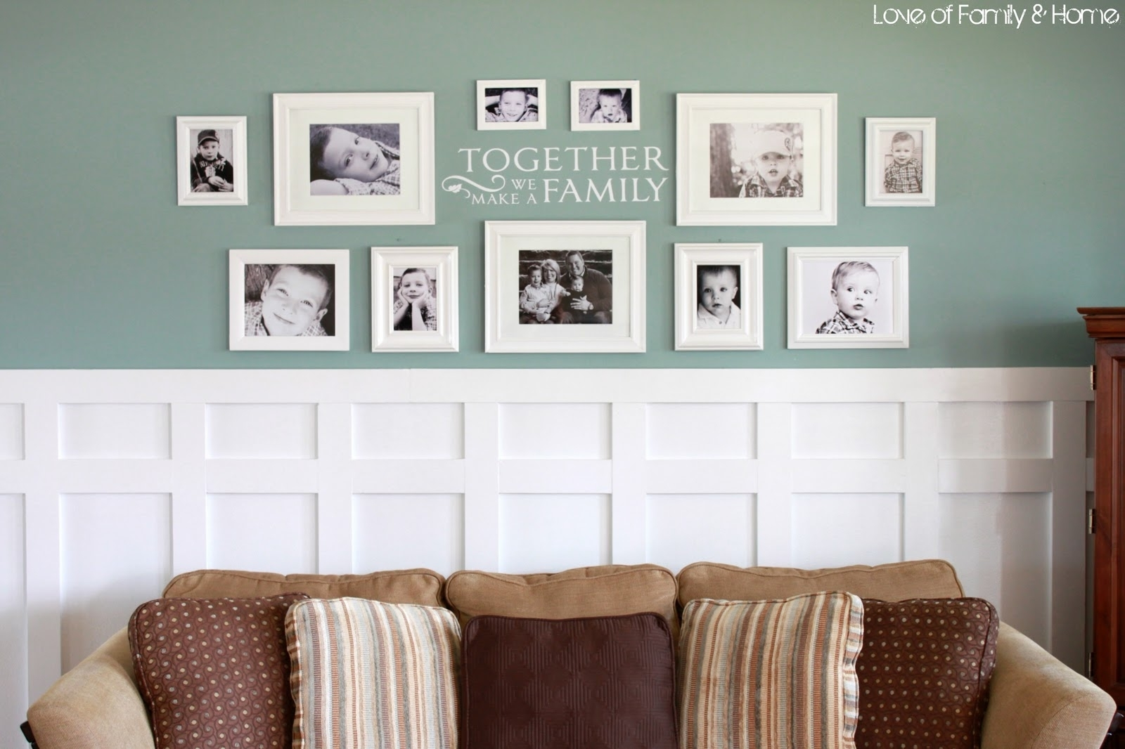 Captivating Image Of Living Room Design And Decoration Using White Regarding Recent Frames Wall Accents (View 2 of 15)
