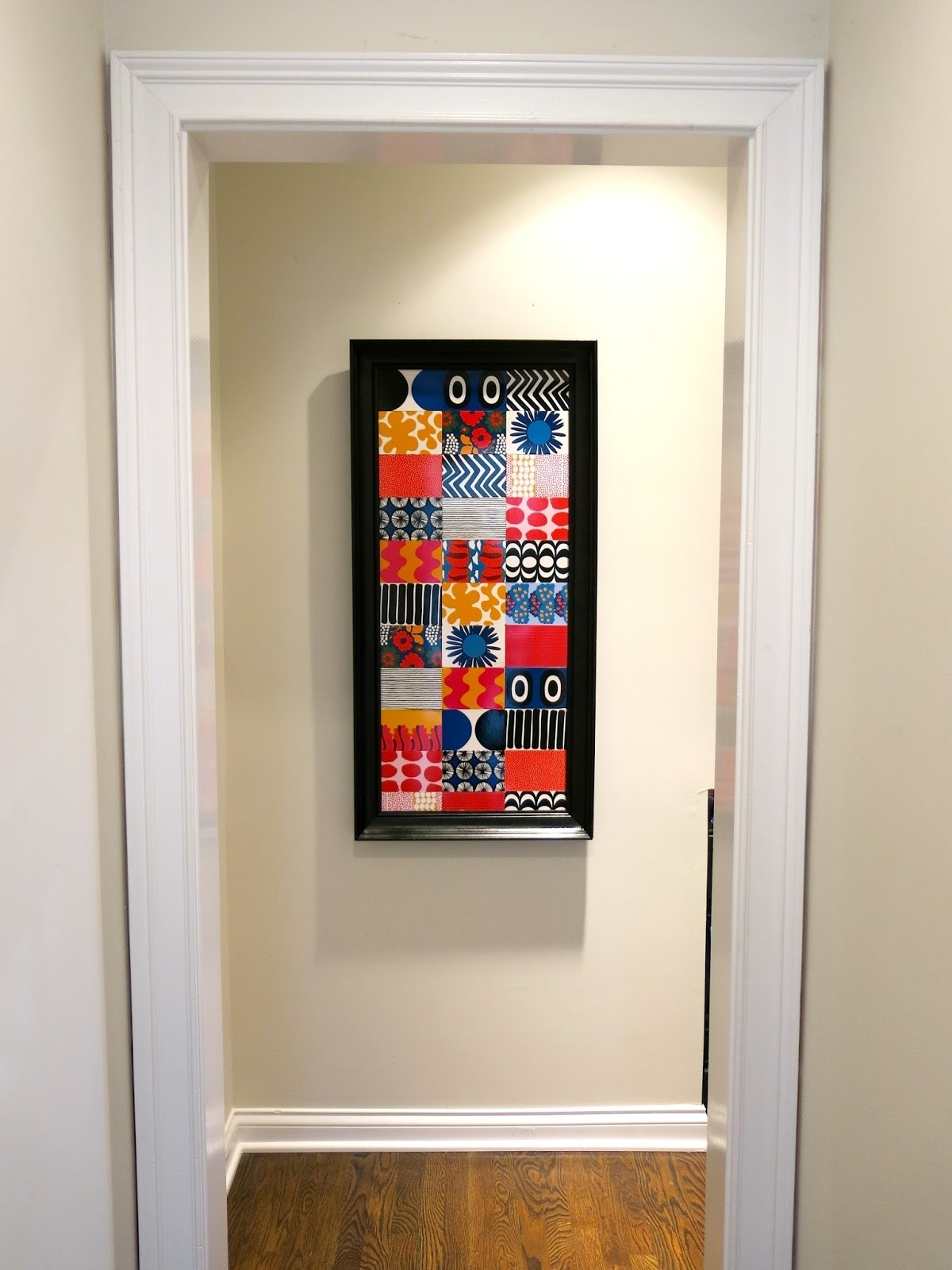 Cassie Stephens: Diy: Marimekko Memory Game Wallhanging Throughout Most Current Marimekko 'karkuteilla' Fabric Wall Art (View 15 of 15)