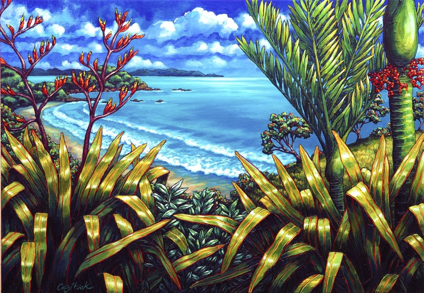 Caz Novak | New Zealand Artist | Prints | Coastal New Zealand Inside Most Recent New Zealand Canvas Wall Art (View 12 of 15)