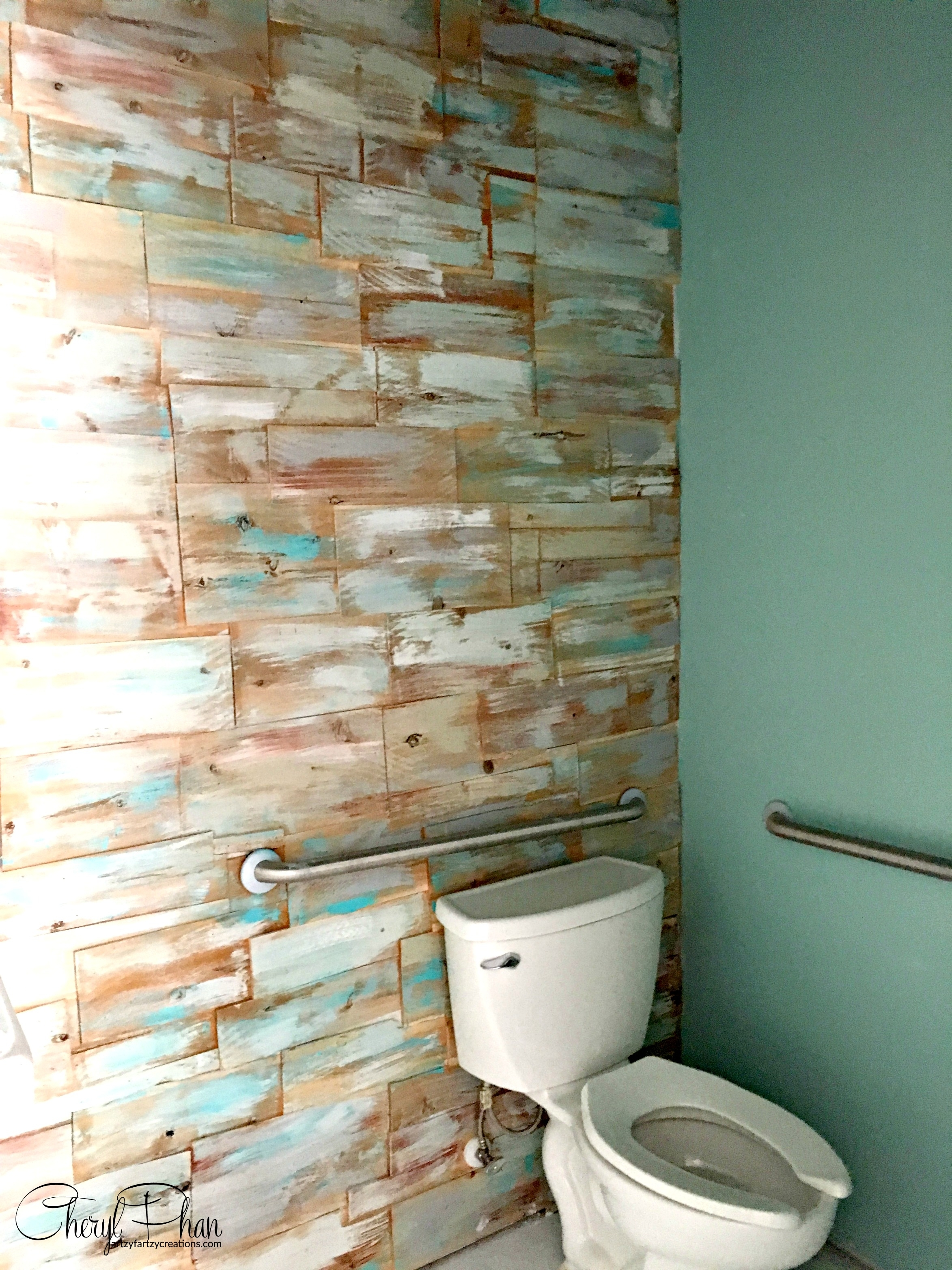 Cedar Wall Wood Plank Accent Wall Cheryl Phan Wood Accent Wall With Regard To Best And Newest Wall Accents Behind Toilet (View 5 of 15)