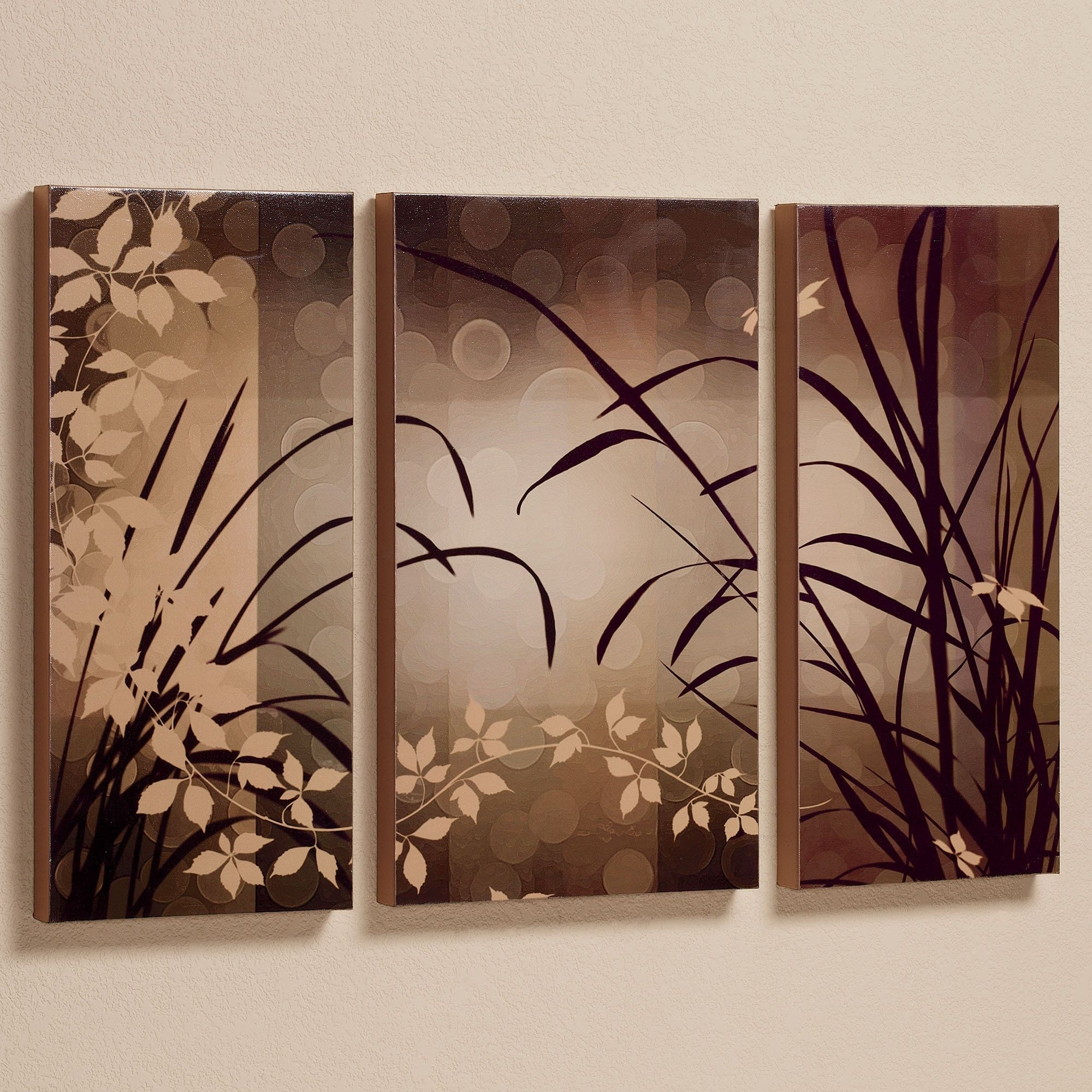 Celebrate Elegance Triptych Canvas Wall Art Set | Triptych Pertaining To Current Embellished Canvas Wall Art (View 6 of 15)