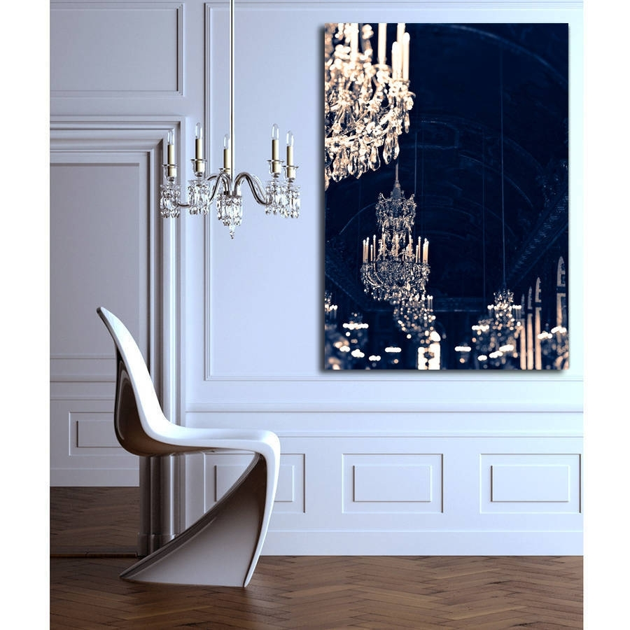 Chandelier Print Canvas Wall Artruby And B With Regard To Most Current Chandelier Canvas Wall Art (Gallery 2 of 15)