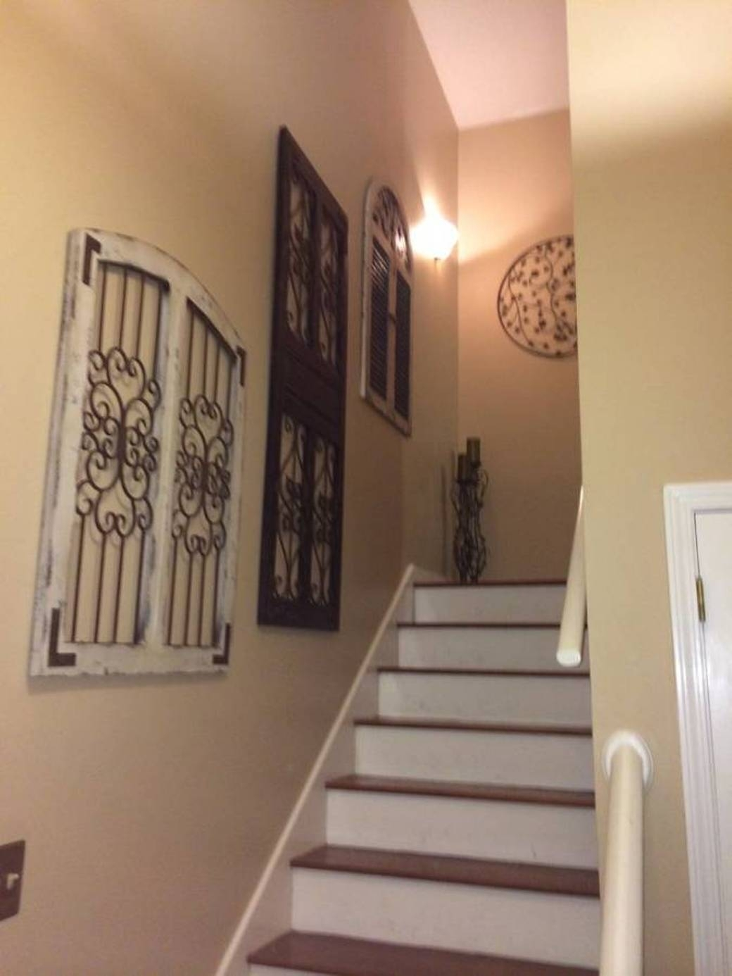 Charm Vintage Wall Decor For Interior Home | Home Decorations Spots Throughout Most Current Staircase Wall Accents (View 12 of 15)