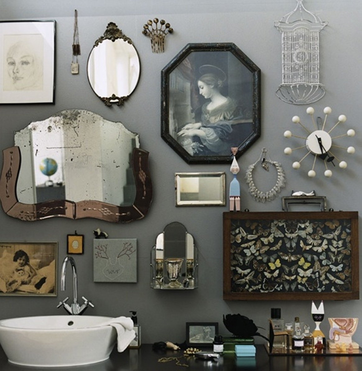 Charming Bathroom Wall Decor Inspirations — The Home Redesign Intended For Recent Vintage Wall Accents (Gallery 1 of 15)