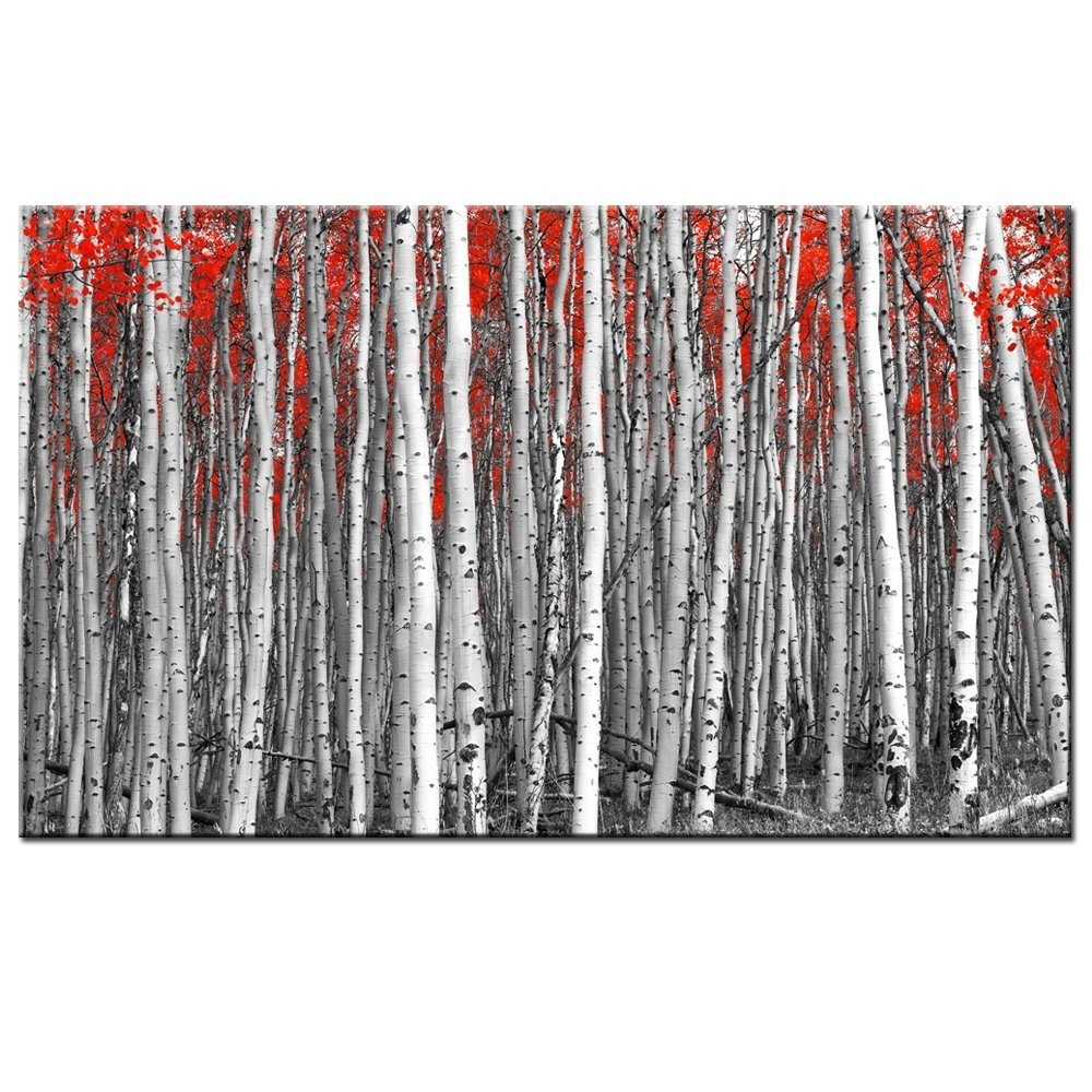 Cheap Birch Tree Canvas Art, Find Birch Tree Canvas Art Deals On Throughout Most Popular Birch Trees Canvas Wall Art (View 8 of 15)