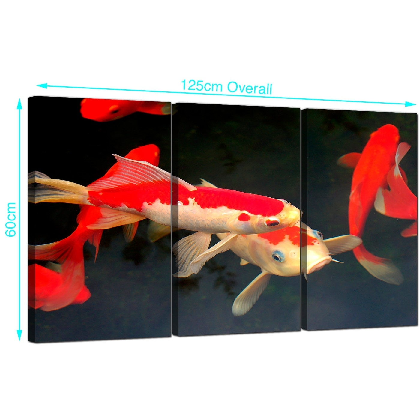 Cheap Koi Carp Canvas Prints Uk Set Of 3 For Your Living Room Intended For Most Recently Released Koi Canvas Wall Art (View 2 of 15)