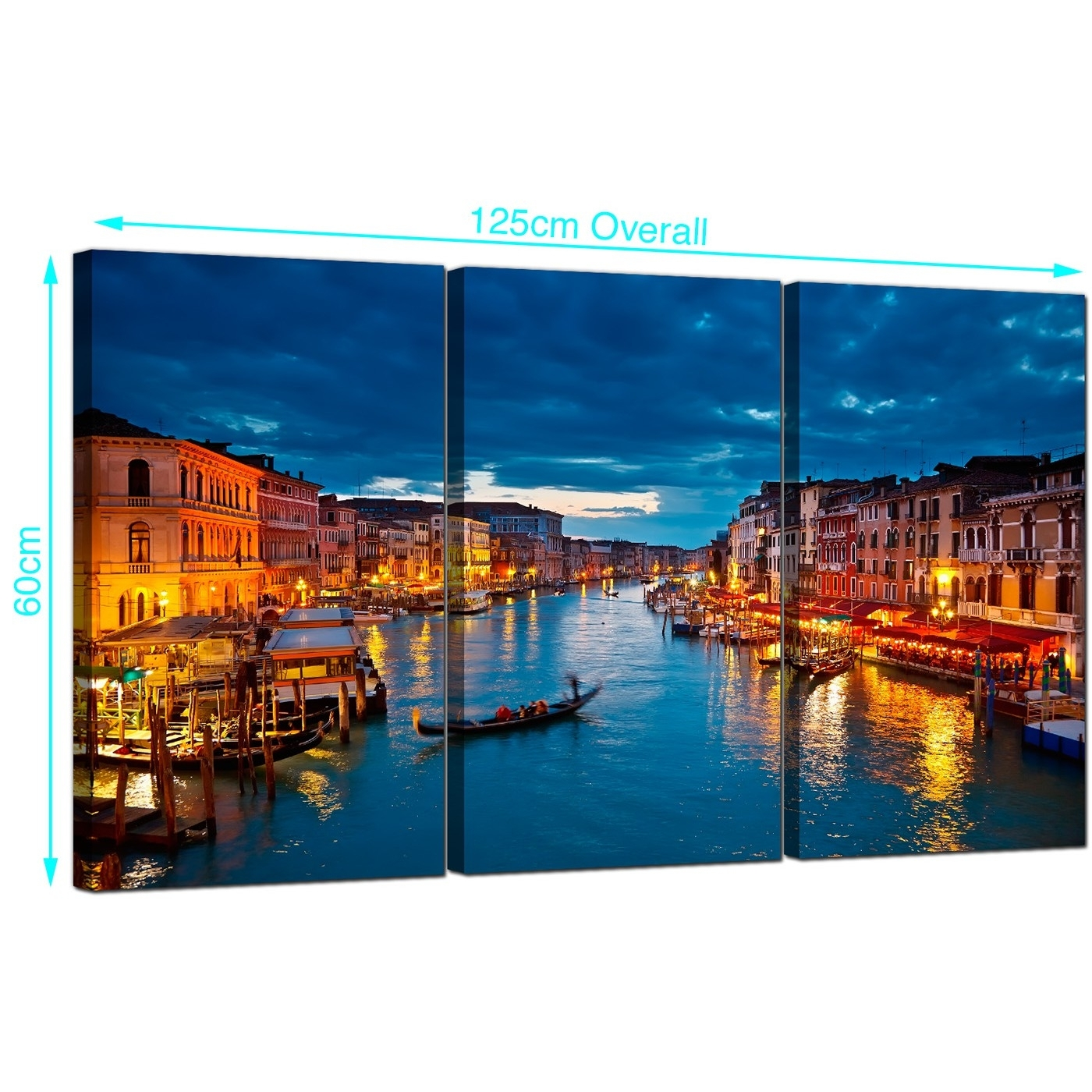 Cheap Venice Italy Canvas Prints Uk 3 Part For Your Living Room Inside Most Recent Canvas Wall Art Of Italy (View 7 of 15)