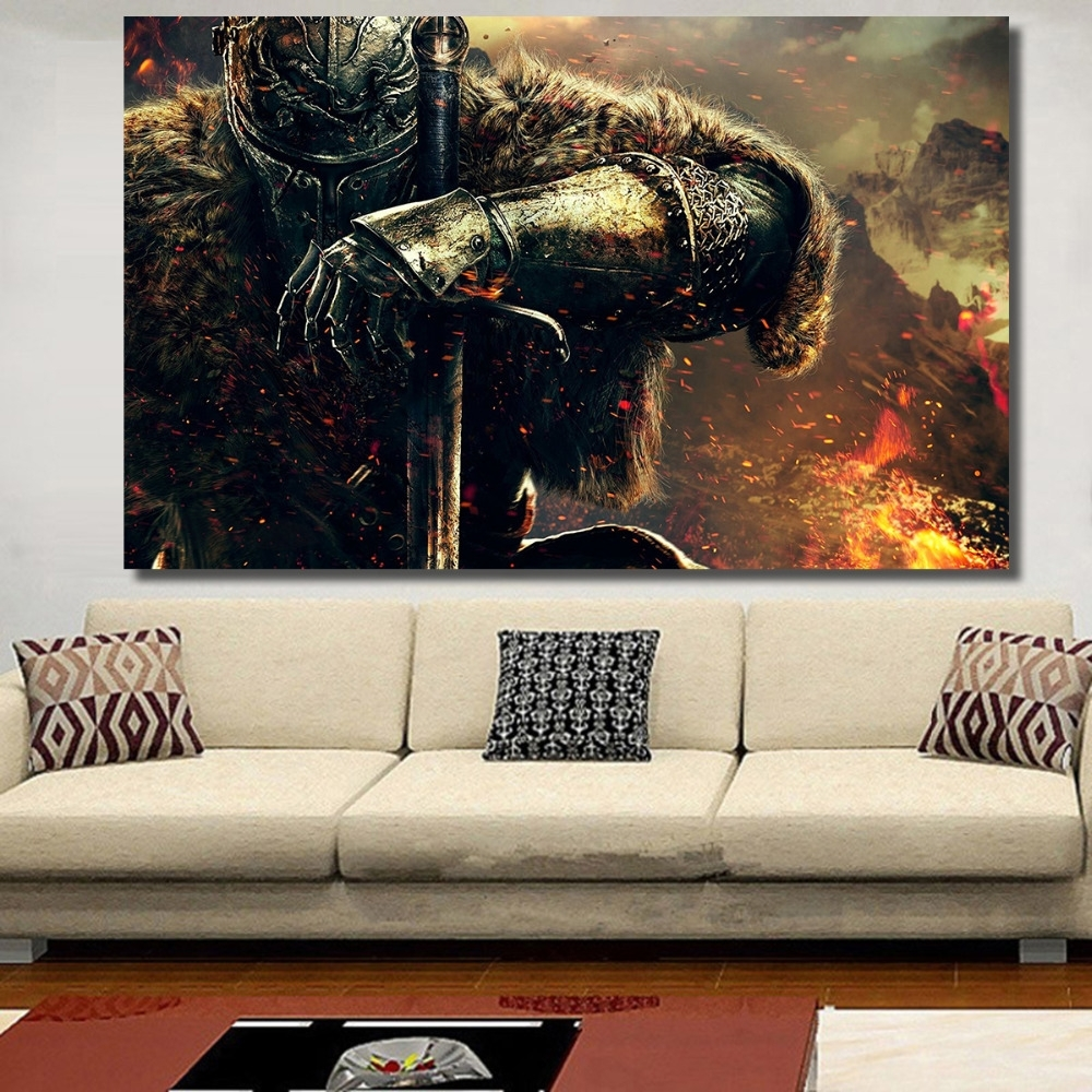 Chenfart Poster On The Wall War Gaming Canvas Oil Painting For Intended For Recent Gaming Canvas Wall Art (View 6 of 15)