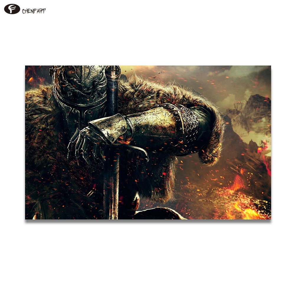 Chenfart Poster On The Wall War Gaming Canvas Oil Painting For Regarding 2017 Gaming Canvas Wall Art (View 7 of 15)