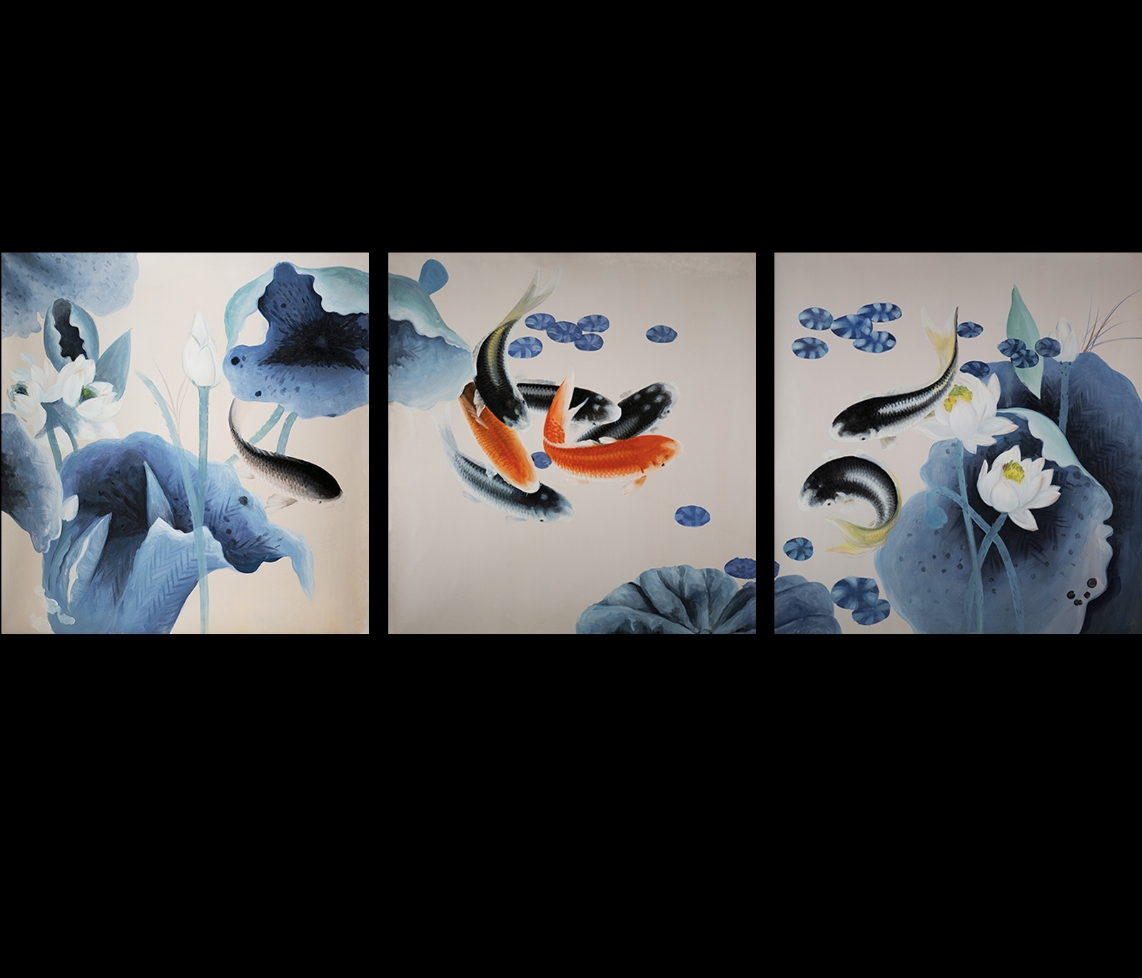Chinese Feng Shui Intended For 2018 Koi Canvas Wall Art (Gallery 8 of 15)