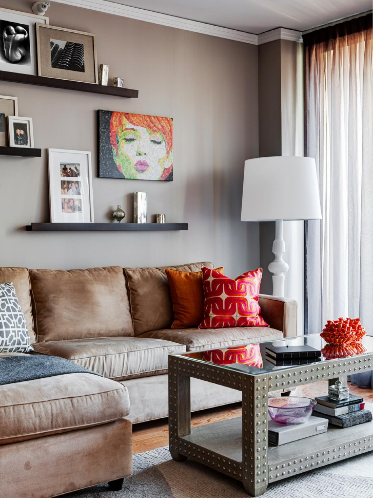 Choosing Living Room Furniture | Hgtv In Most Current Wall Accents Behind Tv Or Couch (Gallery 6 of 15)