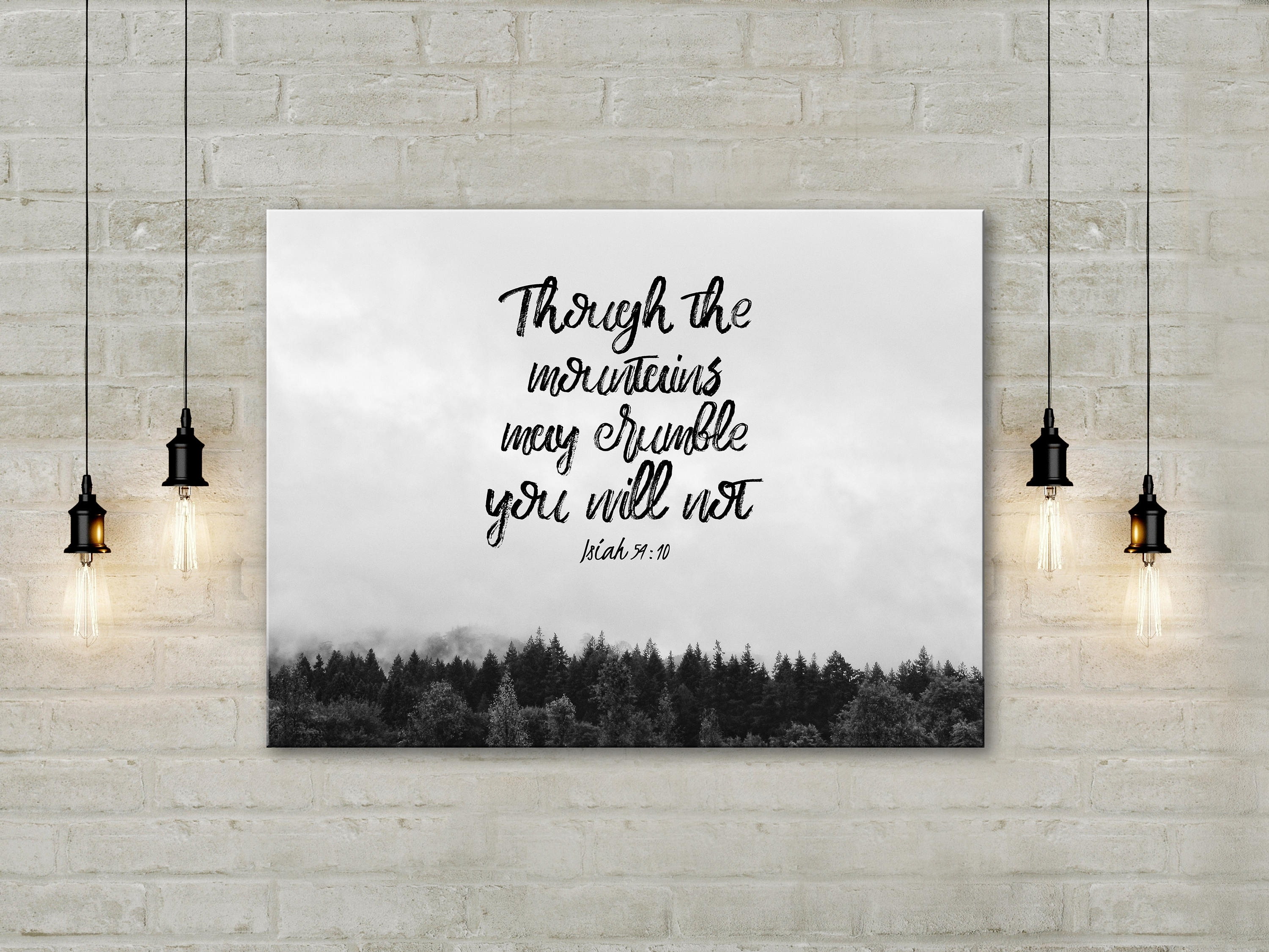Christian Canvas Wall Art | Isa 54:10 | Canvas Print (8X12 Within Most Recently Released Christian Framed Art Prints (View 6 of 15)
