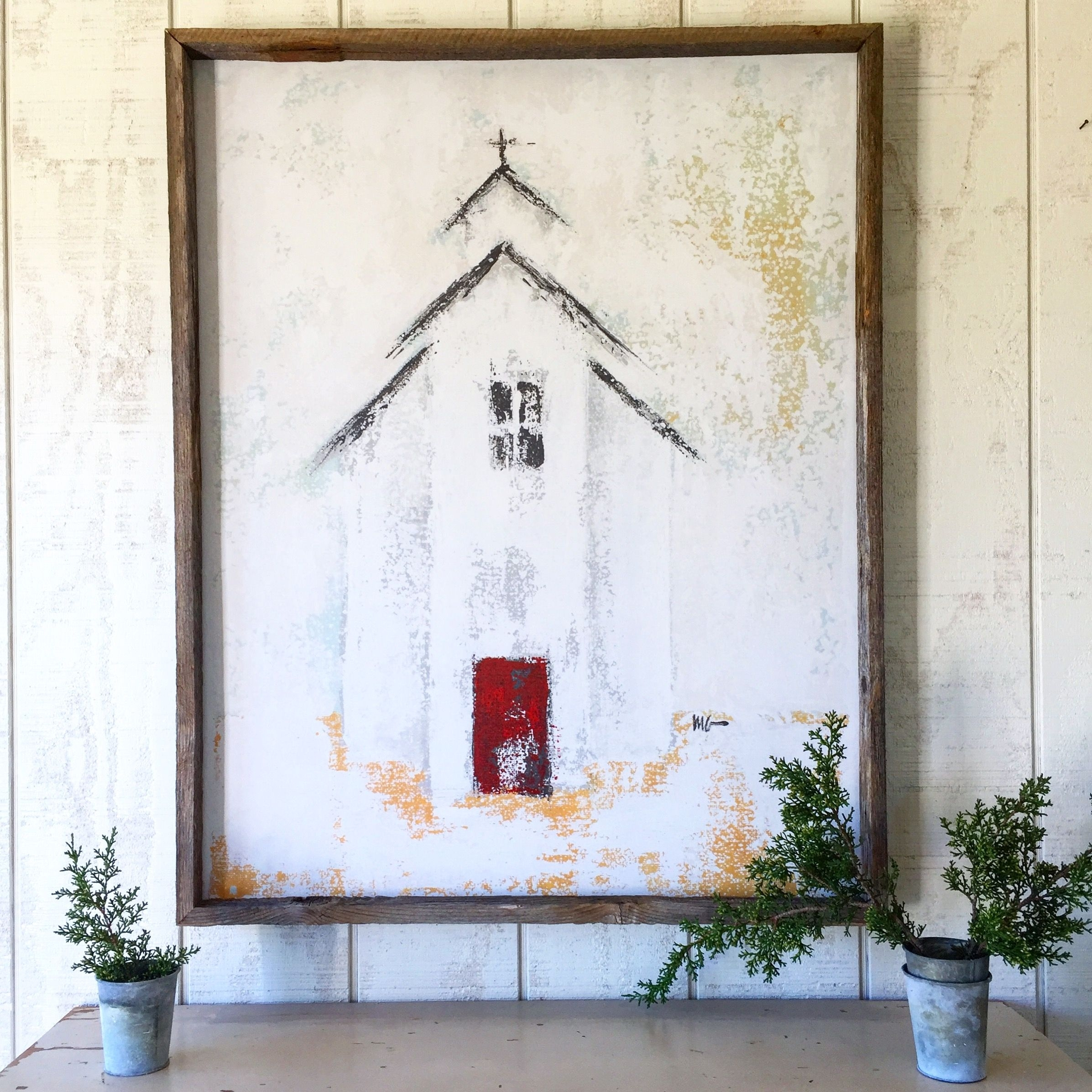 Christmas Church Framed Print | Den | Pinterest | Churches Regarding Current Christmas Framed Art Prints (Gallery 9 of 15)
