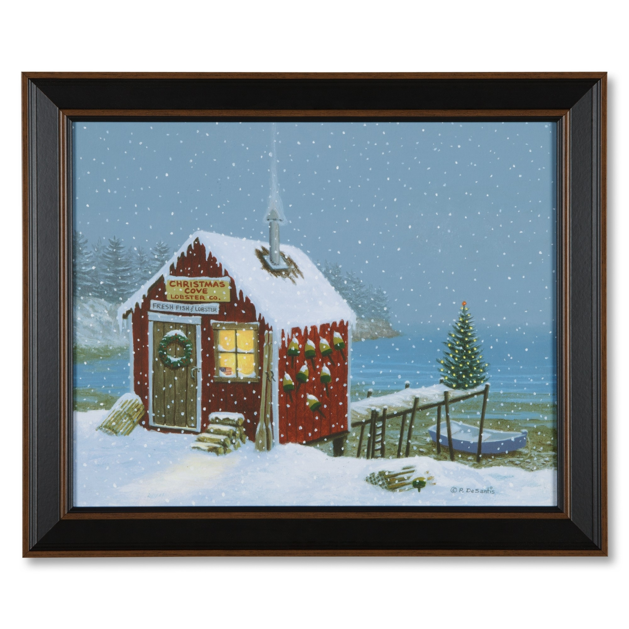 Christmas Cove Lobster Shack Print | Sturbridge Yankee Workshop Regarding Most Current Christmas Framed Art Prints (View 4 of 15)